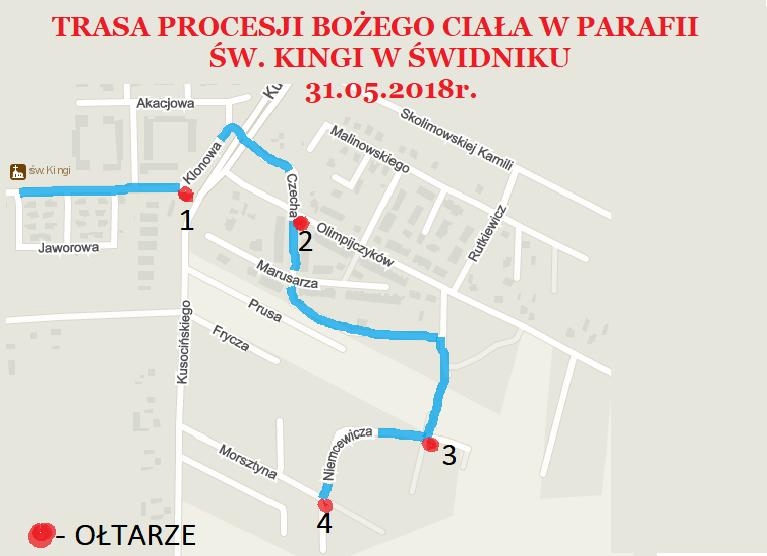 plan trasy